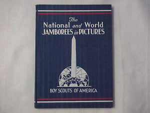 "1937 NJ BOOK BY BSA, ""THE NATIONAL AND WORLD JAMBOREES IN PICTURES"" 72 PAGES, EXCELLENT CONDITION, ORIGINAL OWNER'S NAME ON INSIDE COVER"