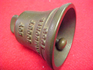 "53 NJ cast metal bell, solid bronze, 2.25"" diameter x 2..75"" high, with ""dinger"""