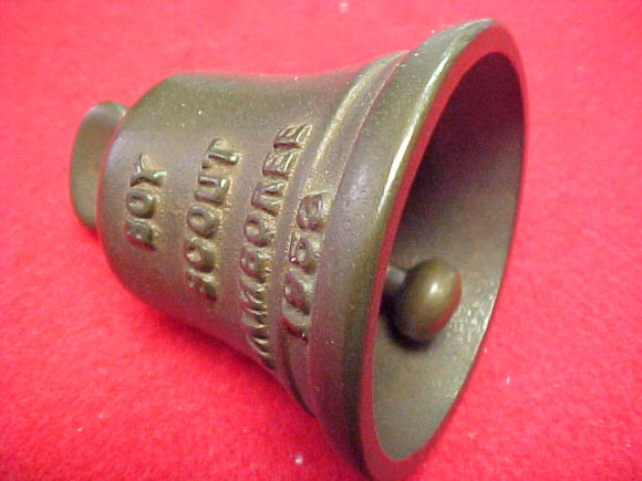 53 NJ cast metal bell, solid bronze, 2.25