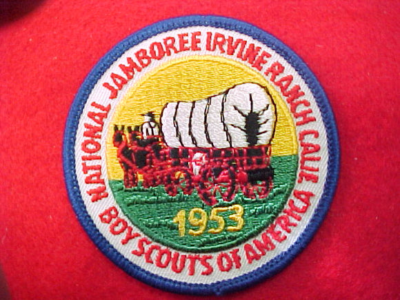 53 NJ pocket patch, reproduction by bsa in 1973, plastic back