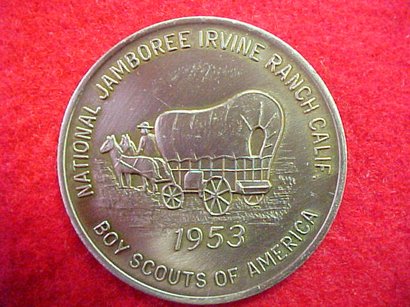 53 NJ token, pewter color, reproduction made by bsa in 1980's