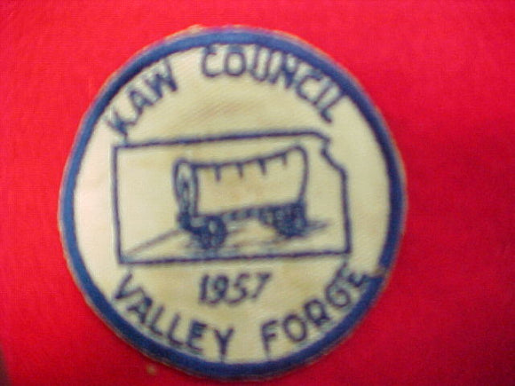 57 NJ council contigent patch, kaw, used