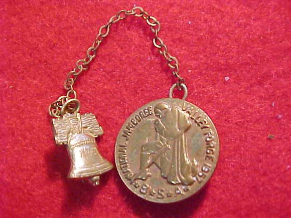 1957 NJ PIN W/ LIBERTY BELL ON CHAIN
