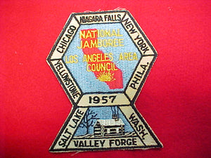 57 NJ council contigent patch, los angeles area, mint