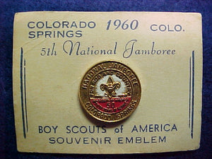 60 NJ lapel pin, original issue, not reproduction