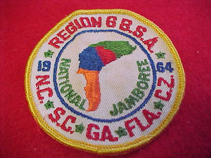 1964 NJ REGION 6 PATCH,USED