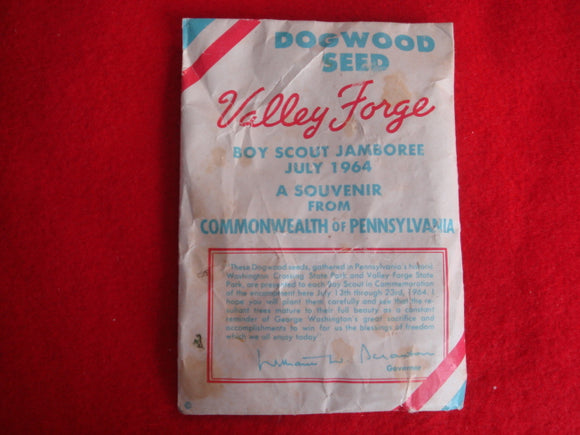 64 NJ dogwood seeds, souvenir from the state of Pennsylvania, good, soiled condition
