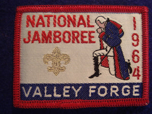 64 NJ pocket patch, woven, red border, official issue