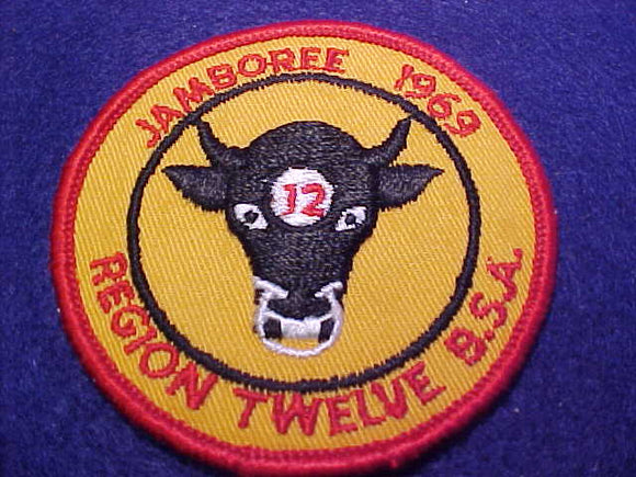 1969 NJ REGION 12 CONTINGENT PATCH, 3 ROUND