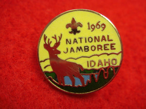 69 NJ lapel pin, enameled, official issue