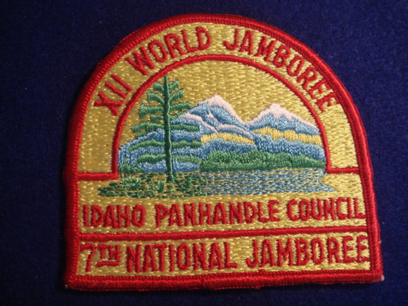 69 NJ Idaho Panhandle Council contingent patch, also used for 1967 World Jamboree, large size 4
