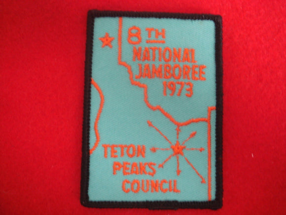 73 NJ Teton Peaks Council contingent pocket patch