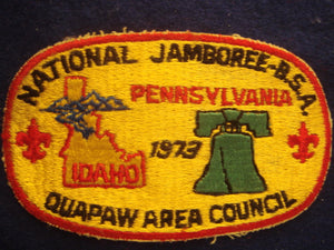 73 NJ Quapaw Area Council contingent pocket patch