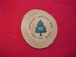 1973 NJ WOOD TREE CROSSECTION, JAMBOREE WEST, FARRAGUT, IDAHO