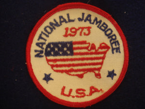 "73 NJ National Jamboree USA, 3"" round patch"
