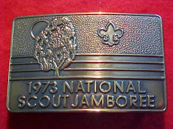 1973 NJ BELT BUCKLE, BRASS
