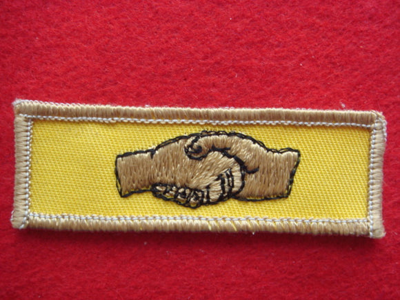 73 NJ wide game patch, worn beneath official pocket patch by participants of game at NJ