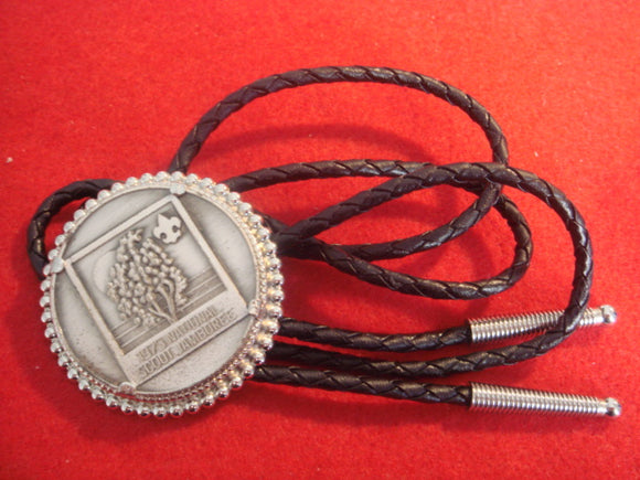 73 NJ bolo, token style, black leather string