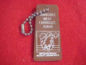73 NJ keychain, Troop 129, Northeast Illinois Council issue, backside has Troop 129 logo