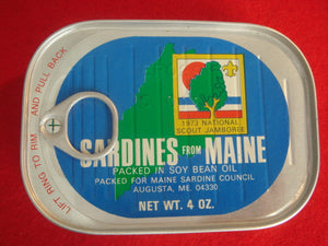 73 NJ sardines from Maine, mint in original tin, Augusta, ME