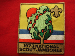 73 NJ jacket patch, official, plastic back