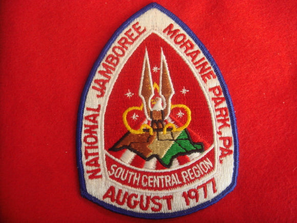 77 NJ Southcentral Region patch, red background
