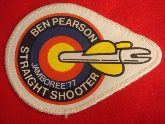 77 NJ Ben Pearson straight shooter archery award patch