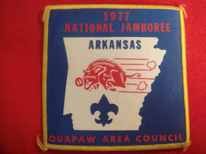 77 NJ Quapaw Area Council contingent pocket patch, near mint