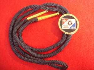 77 NJ bolo, multicolor emblem, navy blue string