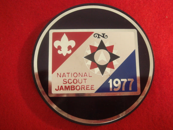 77 NJ paperweight metal 3.25 emblem