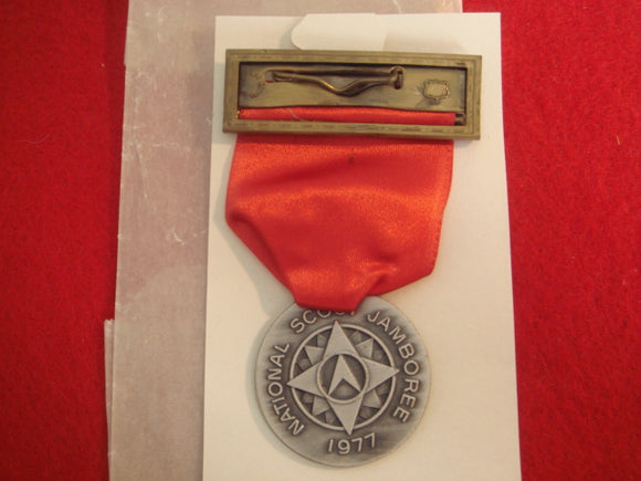 77 NJ contest medal, red ribbon, mint in original package