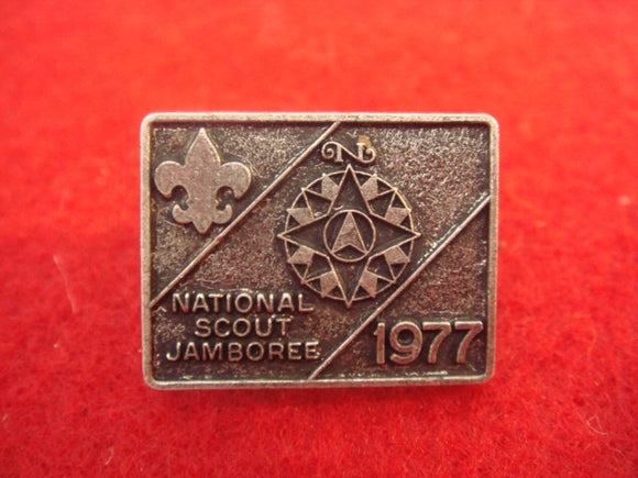 77 NJ lapel pin, pewter