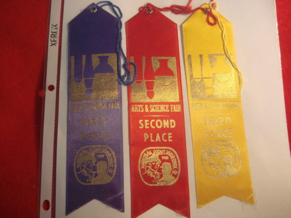 81 NJ complete set of arts and science fair ribbons