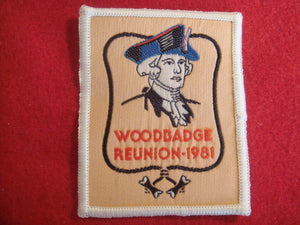 81 NJ woodbadge reunion, woven patch