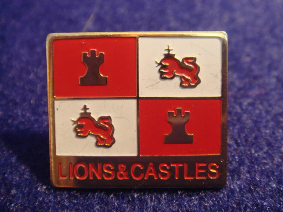 81 NJ subcamp pin, lions & castles, unofficial