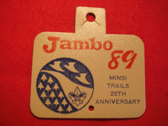 89 NJ Minsi Trails Council contingent patch, leather