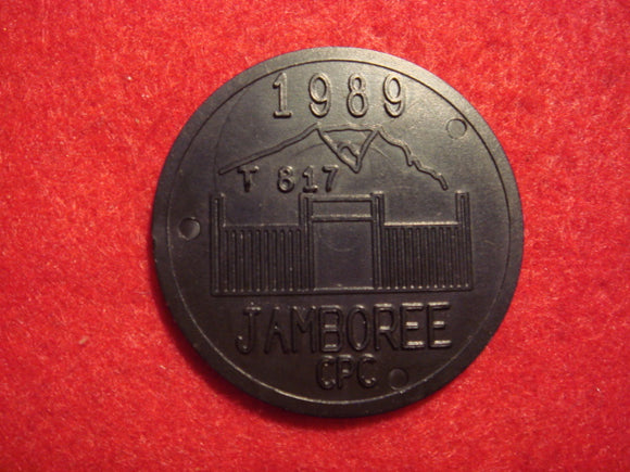89 NJ token, troop 817, Columbia Pacific Council (?), plastic