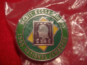 89 NJ stamp collecting merit badge midway pin