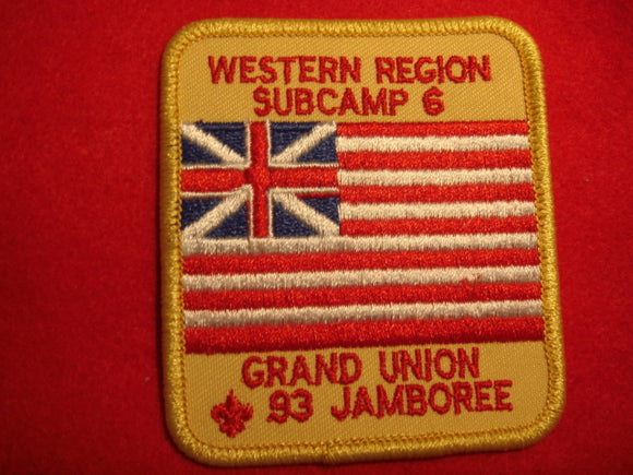 93 NJ subcamp 6, western region patch