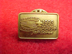 93 NJ pin, official, gold color