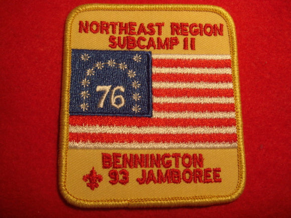 93 NJ subcamp 11, northeast region patch