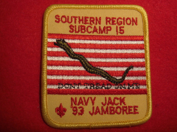 93 NJ subcamp 15, southern region patch