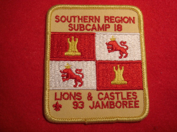 93 NJ subcamp 18, southern region patch