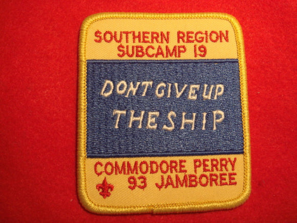 93 NJ subcamp 19, southern region patch