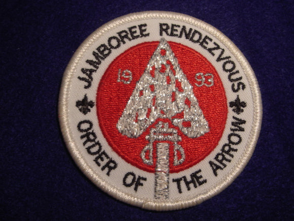93 NJ Order of the Arrow rendezvous patch
