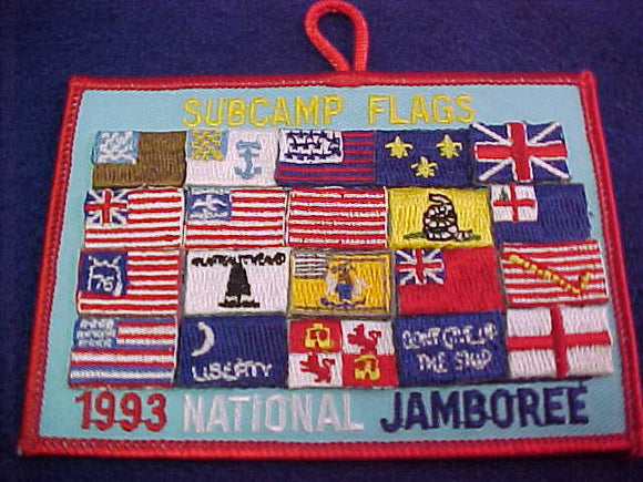 1993 NJ SUBCAMP FLAGS PATCH, UNOFFICIAL