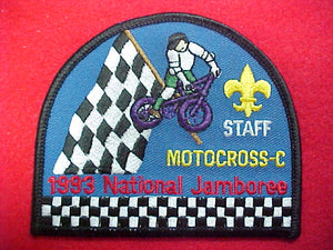 "93 NJ motocross ""c"" staff pocket patch"