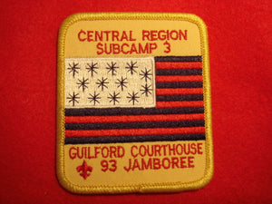 93 NJ subcamp 3, central region patch