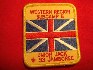 93 NJ subcamp 5, western region patch