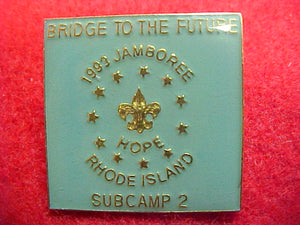 93 NJ pin, subcamp 2, square pin (not part of original bsa original set)